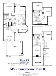 3 story townhouse floor plans manhattan townhome plan 8 and 8f floorplan