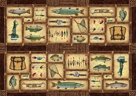 themed rug water resistant area rug fishing theme