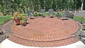 round patio stone round brick patio outdoor goods