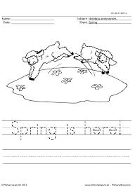 primaryleap co uk handwriting worksheet spring is here worksheet