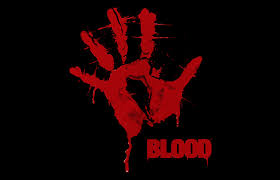 download wallpaper hand print red black blood hd background