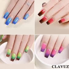 gel nail polish clavuz soak off color changing nail lacquer set