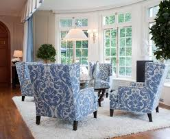 Patterned Armchair Blue And White Armchair For Creative Of Best 25 White Armchair