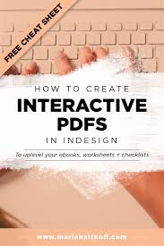 how to create an interactive pdf in indesign u2014 mariah althoff