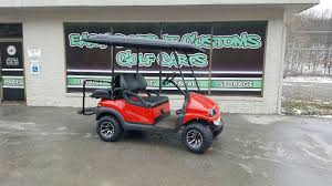 club car precedent electric golf cart black and red phantom body