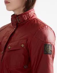 red motorcycle jacket classic tourist trophy 4 pocket motorcycle jacket pure