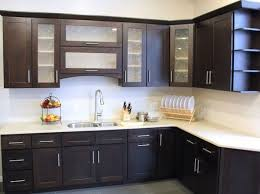 Black Rustic Kitchen Cabinets Kitchen Appealing Modern Oven In Cabinets Bamboo Decor For Ideas