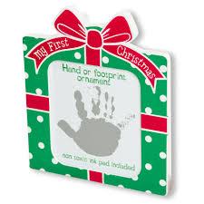 baby essentials christmas ornament u0026 ink pad handprint or footprint