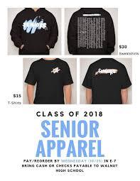 high school senior apparel whs sen18rs walnut2018