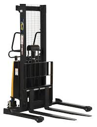 vestil stackers with powered lift