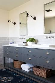 Mirrored Subway Tile Backsplash Bathroom Transitional With by 19 Best Images About Bathroom Remodel On Pinterest Trough Sink