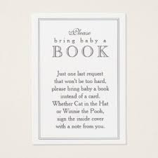 bring book instead of card to baby shower baby shower book insert business cards business card printing