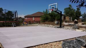 plain and simple the backyard is ready for hoop action