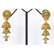buy jhumka earrings online golden jhumka earring buy golden jhumka