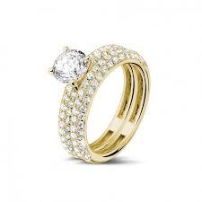 bagues de fian ailles bagues de fiançailles diamant or jaune ensemble 1 00 baunat