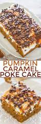 Halloween Poke Cake by Pumpkin Caramel Poke Cake Averie Cooks