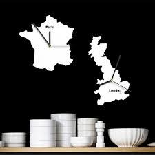 Minimalistic Wall Clock by Online Shop Art Modern Minimalist Wall Clock Unique National Map