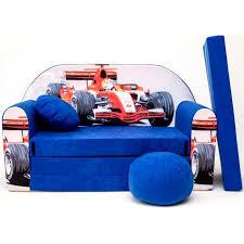 canapé voiture canapé lit enfant convertible bleu et voiture de course achat