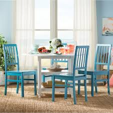 Teal Kitchen Chairs by Kitchen Table Round With Leaf Insert Glass Solid Wood 6 Seats