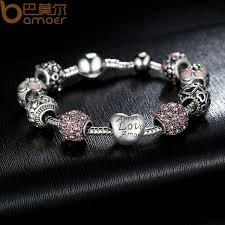 s day charm bracelet silver charm bangle bracelet with and flower
