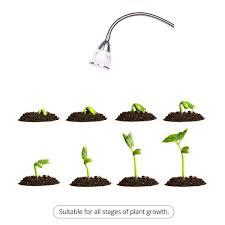 amazon com led grow lights hgrope 5w led clip desk lamp with