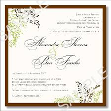 wedding invitations templates wedding invitation wording sles pdf wedding invitation