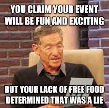 College Kid Meme - how college students decide which events to attend rebrn com