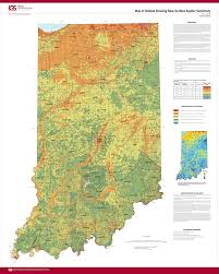 Surface Map Indiana Geological U0026 Water Survey Map Of Indiana Showing Near