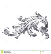 acanthus scroll stock vector image of engraving filigree 35187654