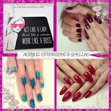 acrylic extensions sculpts u0026 custom shellac manicure and acrylic