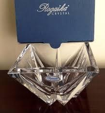 Rogaska Crystal Vase Rogaska Full Crystal Heavyweight Square Diamond Bowl 12cm