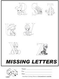 kids coloring page precious moments alphabet part 2 coloring sheet