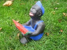 black watermelon boy concrete lawn statue lawn jockey blue ebay
