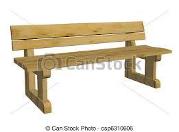3d Bench Stock Illustration Of Wooden Park Bench 3d Illustration Wooden