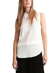 apart fashion apart fashion fashion clear black blusa para mujer weiß