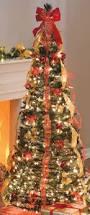 red prelit christmas tree christmas lights decoration