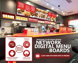 the revolutionary network digital menu boards crystal display