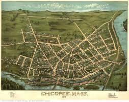 Western Massachusetts Map by Hampden County Ma Birdseye Views