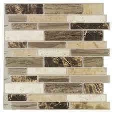 Vinyl Wall Tiles For Kitchen - shop elida ceramica 5 pack verona beige scale mosaic composite