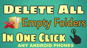 clean empty folder form android device youtube