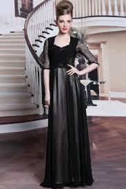 chiffon lace black on cream prom dresses with sleeves chiffon lace