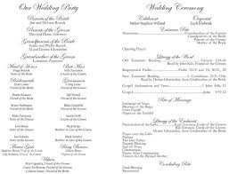 catholic wedding program church programs exles template