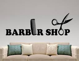 wall decals stickers home decor home furniture diy barber shop logo wall decal window vinyl sticker hair haircut salon decor 4pzz