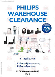 6 8 june 2014 philips malaysia warehouse sale for home appliances