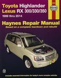 haynes repair manual toyota highlander lexus rx 300 330 1999 thru