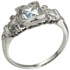 art deco 1 14 carat diamond platinum engagement ring art deco