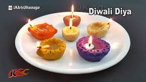how to make wheat flour diya home made oil lamp for diwali
