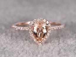 morganite ring gold ring for women1 2ctw pear cut morganite engagement ring 14k