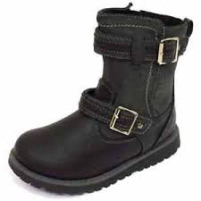 boots sale uk ebay childrens flat black zip up winter biker boots