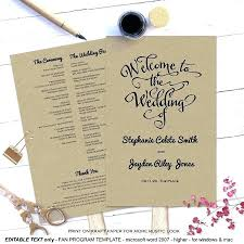 fan wedding program kits wedding programs diy hixathens